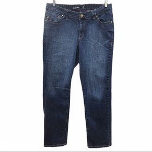 Lane Bryant straight leg jeans, size 18